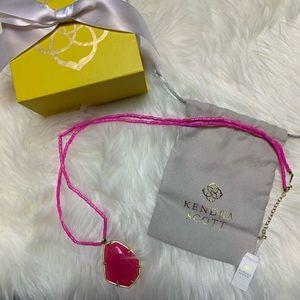 NWT Kendra Scott Beatrix Necklace Pink/Gold